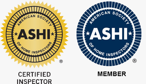 Certification logos for home inspectors: ASHI Certified Home Inspector (ACI) Logo and ASHI Member