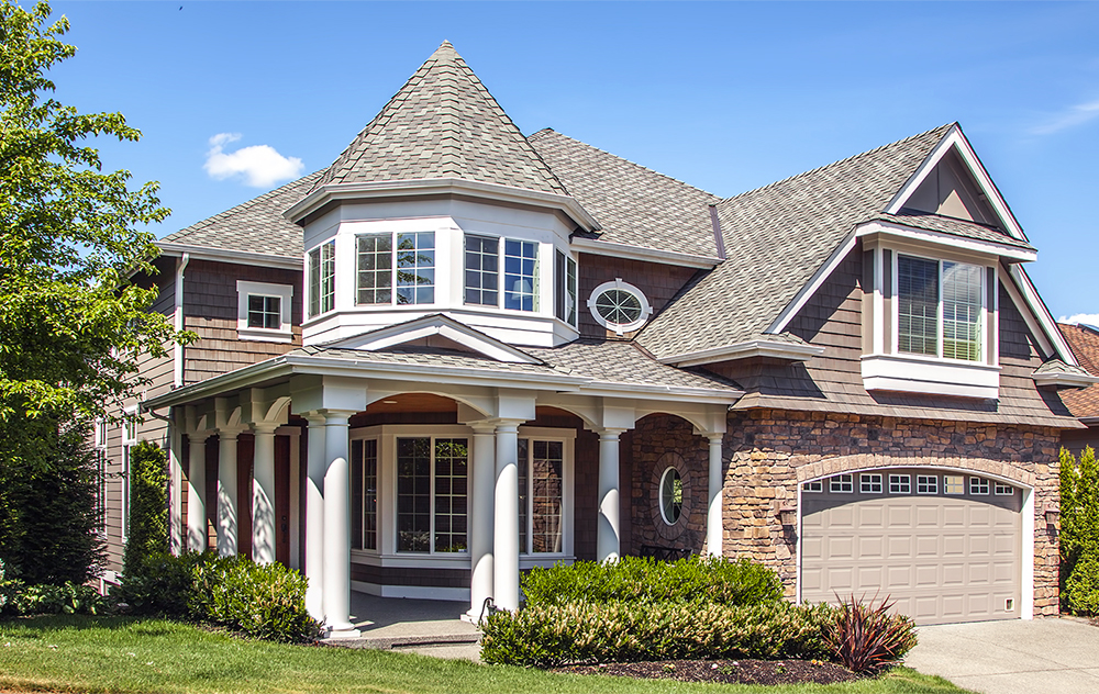 A new, custom built residential home after receiving thorough home inspection services